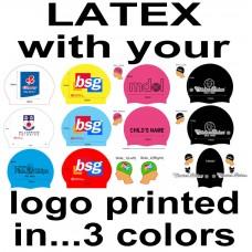 Custom Printed Caps - Latex Cap with 3 colour Logo